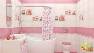 Ванная комната розового цвета