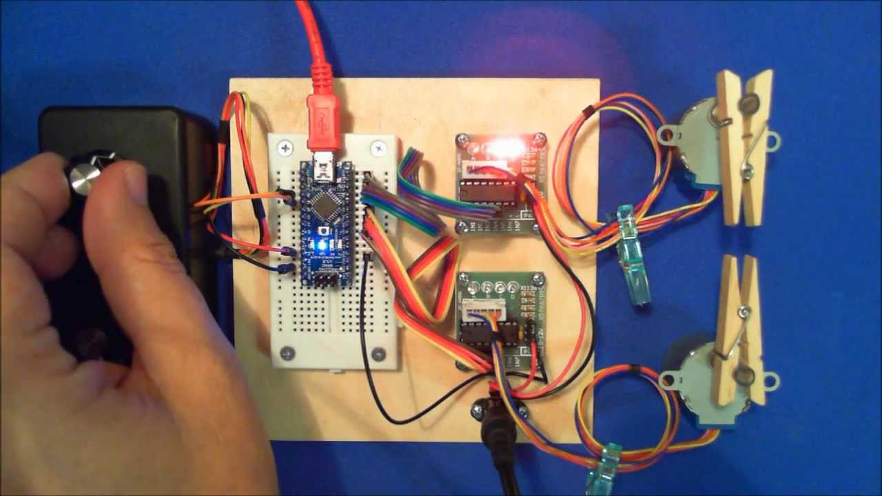 Arduino And Two Stepper Motors Youtube Motor Controller Driver Circuit Diagram Wiring