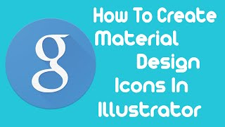 💻Update💻 - How To Create A Material Design Icon In Adobe Illustrator - Design Tutorial For Beginners