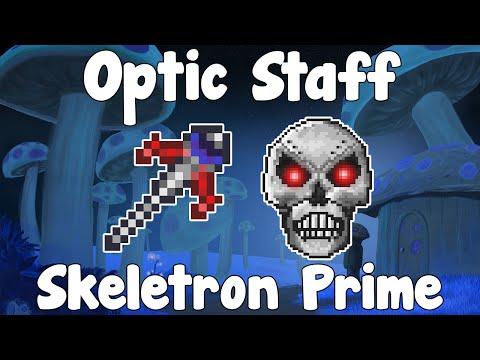 Optic Staff VS Skeletron Prime & MORE!? - Terraria 1.2.4
