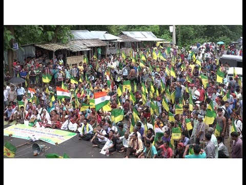 Road & Rail Blockade movement for indefinite period by IPFT of Tripura