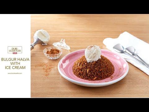 Bulgur Halva With Ice Cream