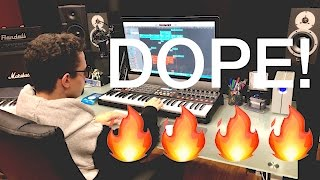 MAKING A DOPE BEAT!!