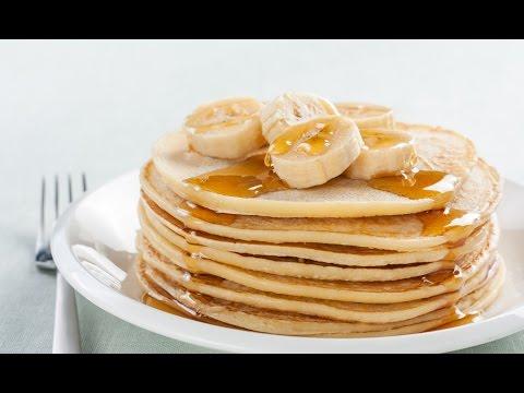 How To Make Banana Pancakes Recipe   Tasty Food