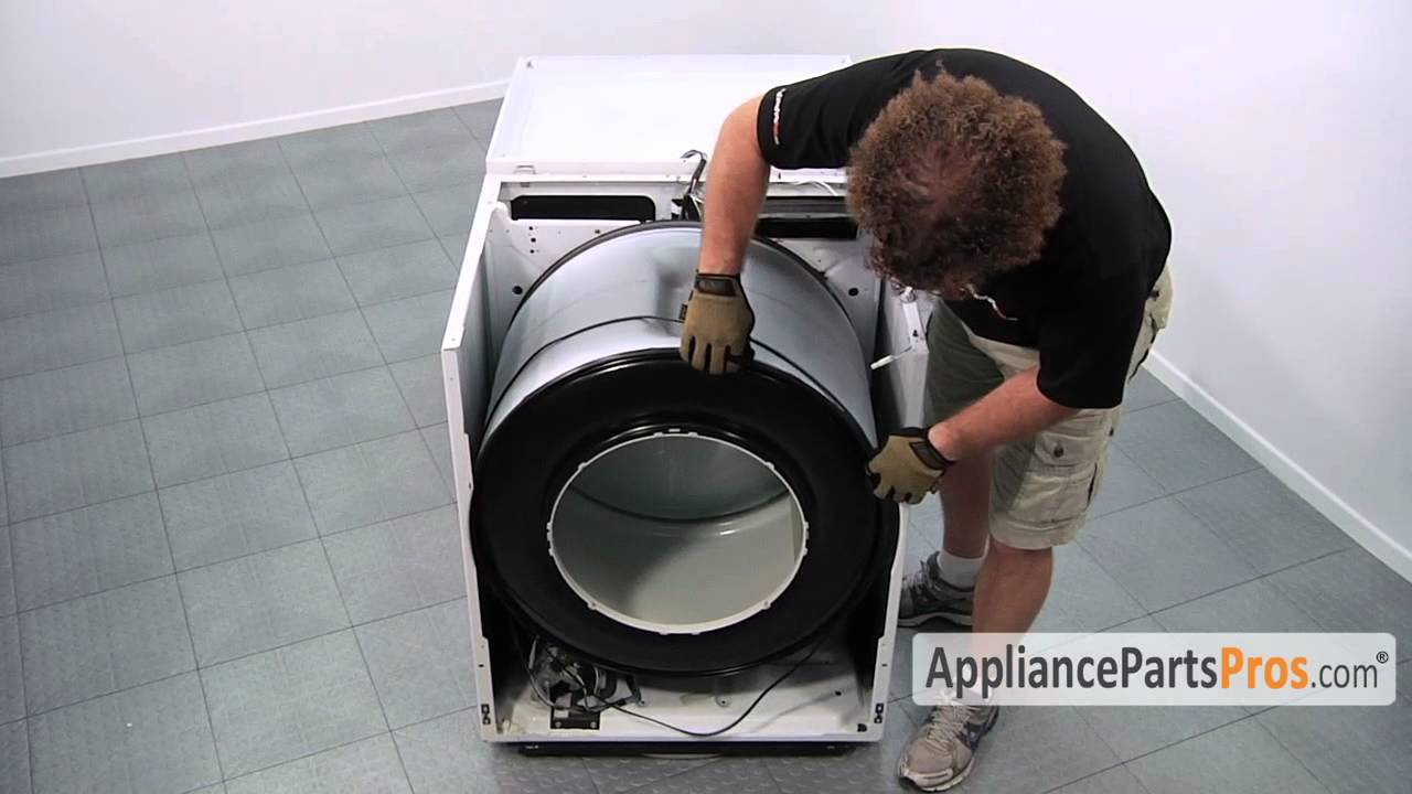 dryer belt whirlpool made dryers part 341241 how to replace youtube [ 1280 x 720 Pixel ]