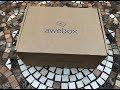 AWEBOX Subscription Box Unboxing January 2018
