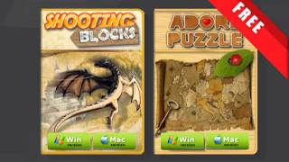 """The Mac version of free games """"Shooting Blocks"""" and """"Adore Puzzle"""""""