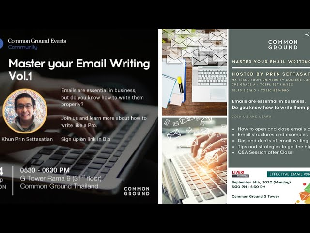 Master your Email Writing - free event