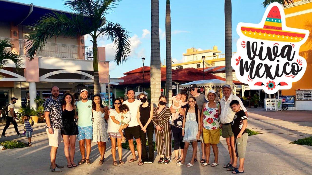 TUR cu un grup de ROMANI pe insula Cozumel, Mexic