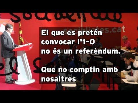 El que es pretén convocar l'1 O no és un referèndum