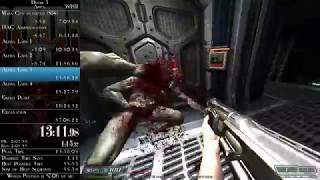 Doom 3 - Any% Speedrun in 0:56:46 (time without loads)