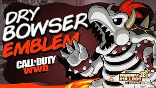 COD-WWll DRY BOWSER EMBLEM TUTORIAL │SUPER MARIO │1080P