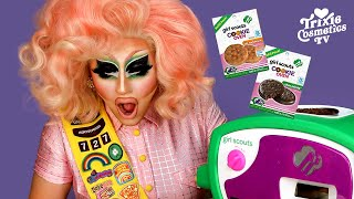 Trixie Bakes Girl Scout cookies in the Girl Scouts Cookie Oven