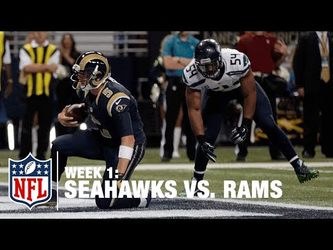 Rams QB Nick Foles Scrambles and Dives for TD | Seahawks vs. Rams | NFL
