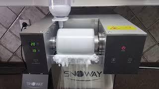 SNOWAY, 빠르고 강한 제빙 속도의 스노웨이 눈꽃빙…
