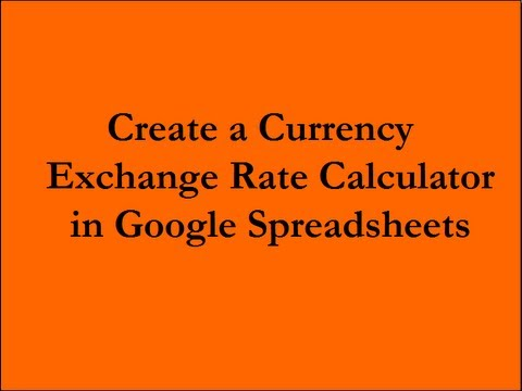 Create A Currency Exchange Rate Calculator