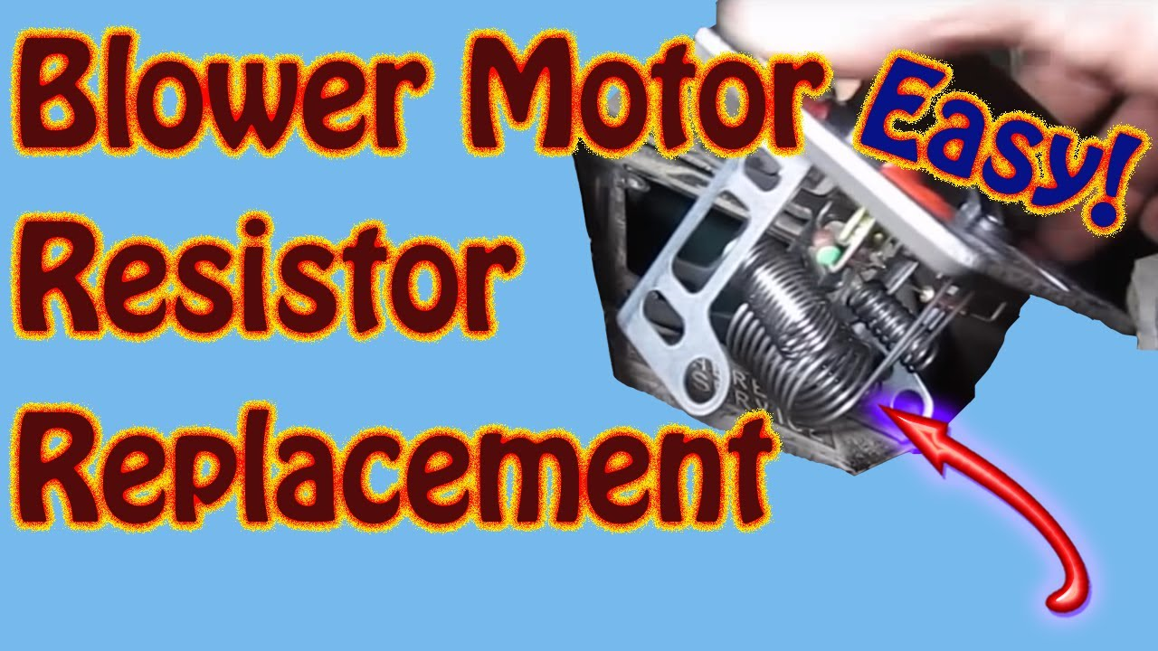 Blower Motor Resistor Repair - Heater Fan Speed Control - Chevy ...
