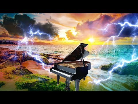 Thunderstorm & Piano Music 🎹 3 Hours of Beautiful Music & Thunder sounds, Relaxing Chopin Piano!