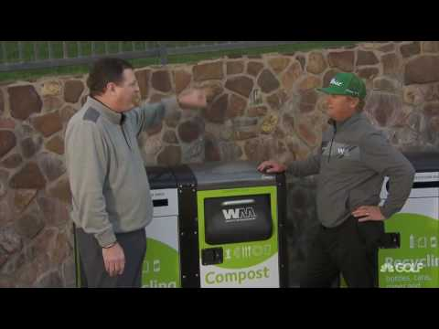 Rymer learns about the solar powered compost compactor