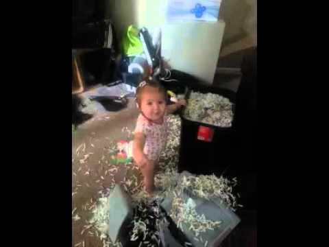 Baby gets caught making a mess