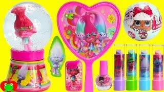 Trolls Glitter Globe and LOL Doll Suprrises