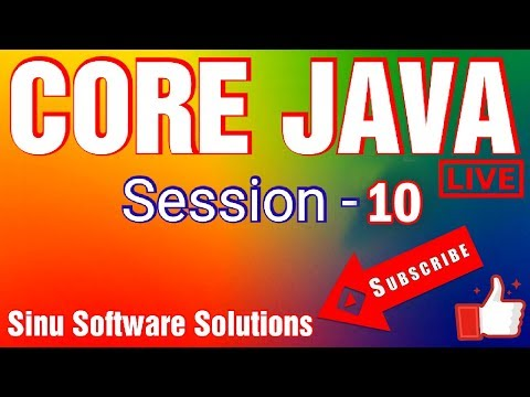Core Java Tutorial for Beginners | Full Course || Session-10 || By SINU SOFTWARE SOLUTIONS thumbnail