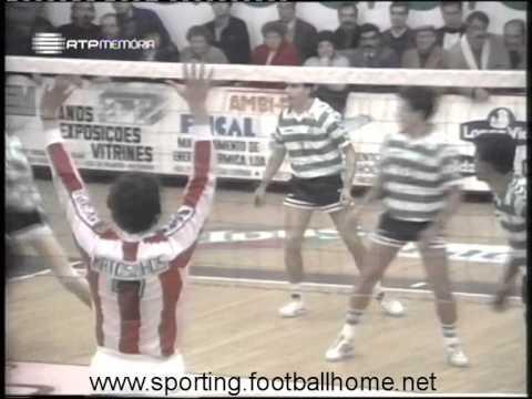Voleibol :: Leixões - 3 x Sporting - 0 de 1989/1990
