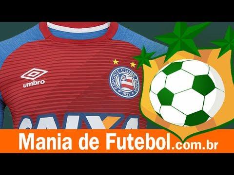 661c3e158c Camisa Aquecimento Bahia Umbro 2017 Azul Vermelha - YouTube