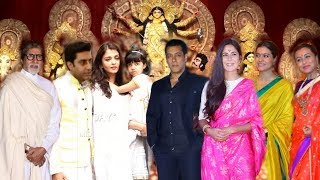 Bollywood Actors Celebrate Durga Puja 2019 | Salman Khan, Katrina Kaif, Rani, Kajol