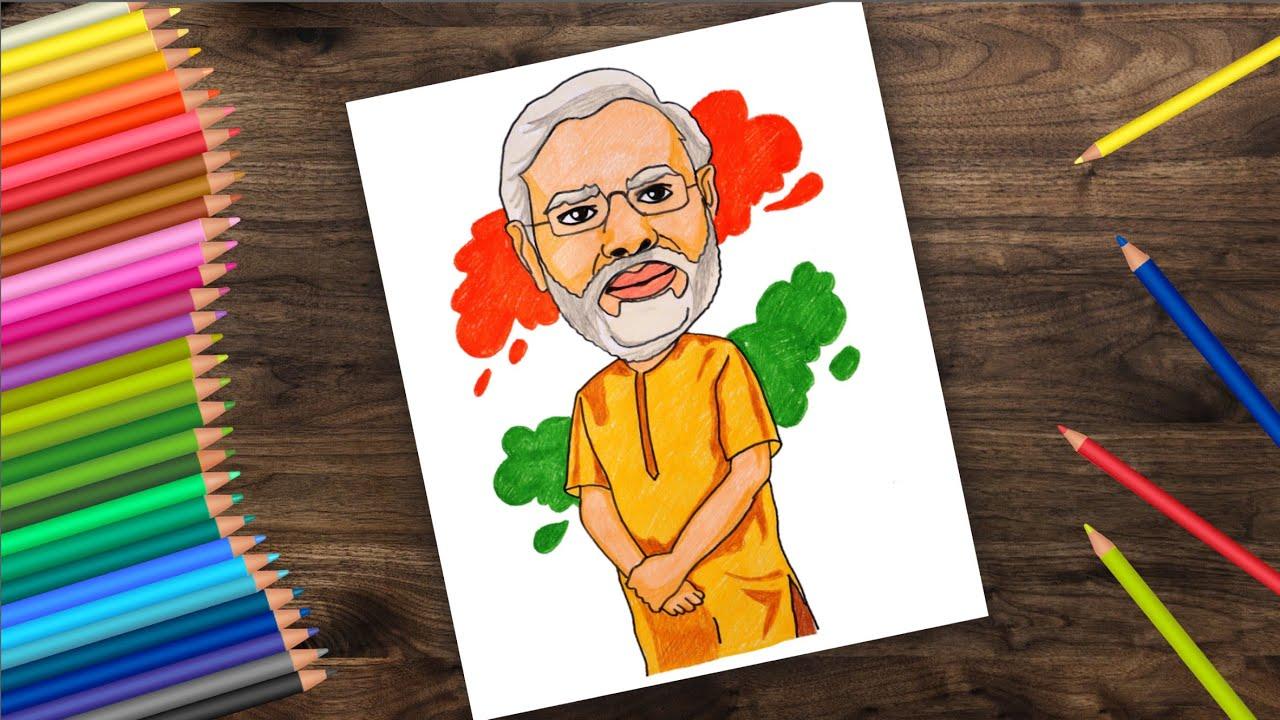 Drawing Narendra modi Pencil sketch /easy pencil drawing ...