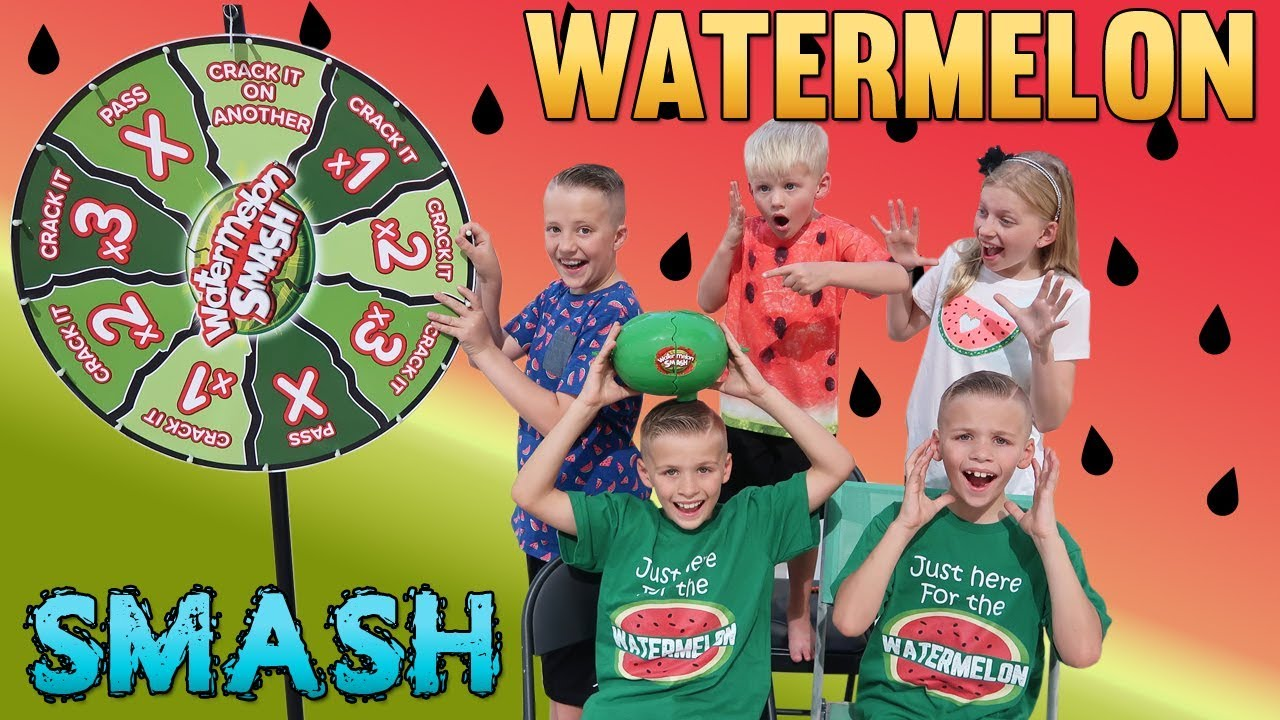 Watermelon Smash Challenge || Family Game Night