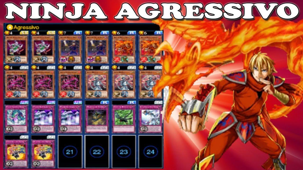 novo deck ninja agressivo yu gi oh duel links youtube