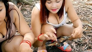Cambodia Fishing  Net Fishing Siem Reap Phnom Krom Part #06 thumbnail