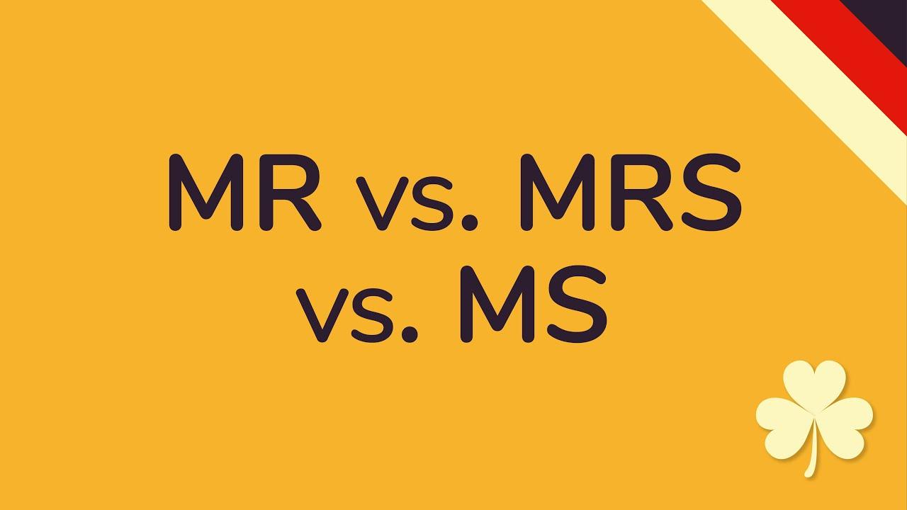 Unterschied Miss Mrs