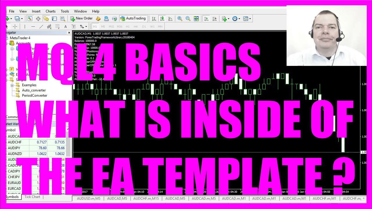 Mql4 Tutorial Basics 1 What Is Inside Of The Ea Template Youtube
