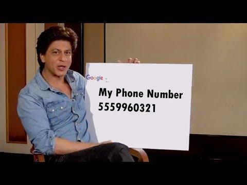 Shahrukh Khan Tell His Phone Number