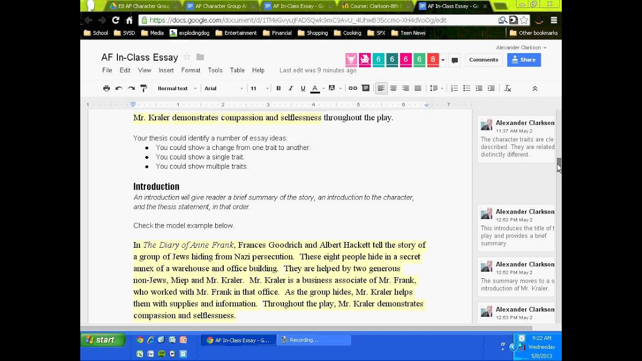 anne frank in class essay introduction