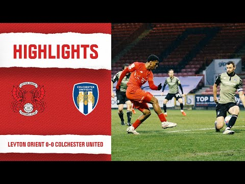 Leyton Orient Colchester Goals And Highlights