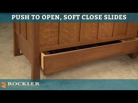 Arts & Crafts Blanket Chest: Featuring King Slide Push-to-Open, Soft-Close Drawer Slides