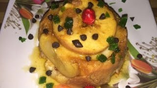 Pudding recipe in hindi without oven - Apple & banana caramelized pudding recipe - sweet dish recipe