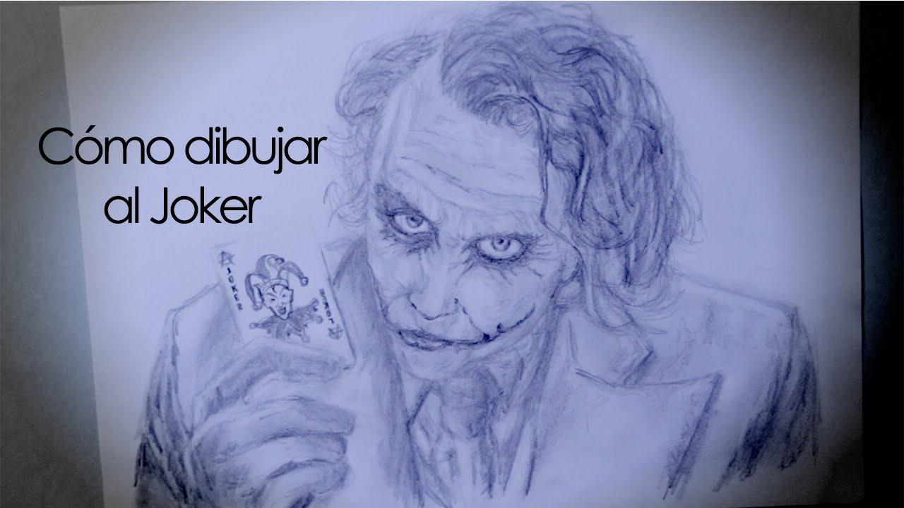 Cmo dibujar el Joker a lpiz How to draw Joker with pencil  YouTube