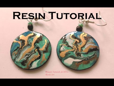 Resin Art Tutorial - Resin Earring- Resin Coaster- RESIN JEWELRY