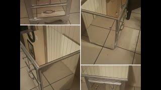 Naturally K| DIY| Mirrored Nightstands!