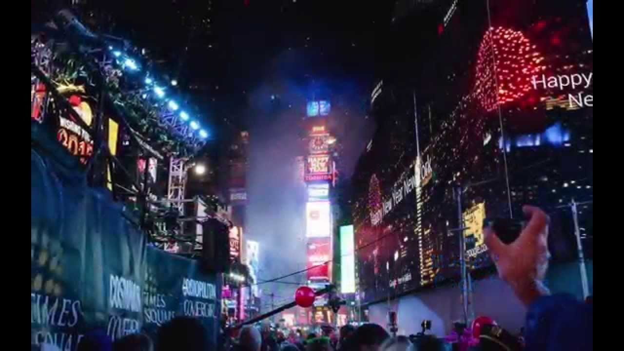Ball Dropping Times Square