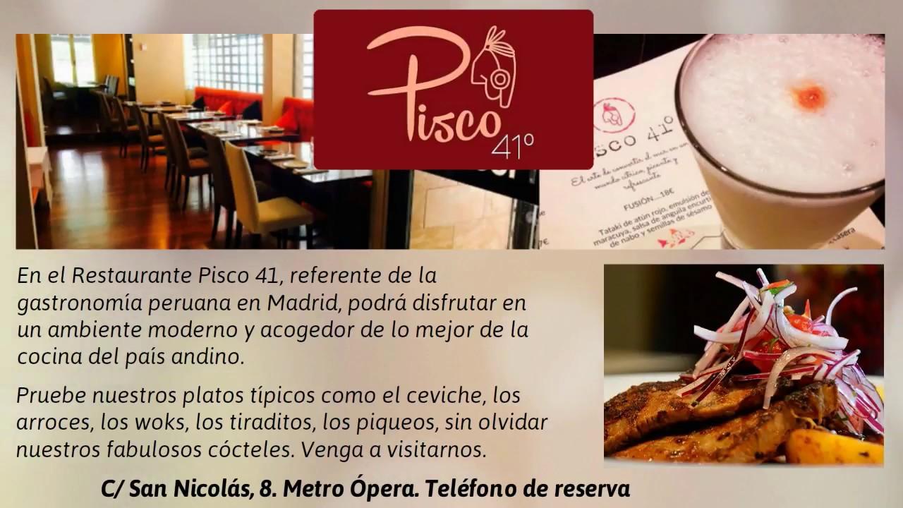 pisco 41 restaurante pisco 41 cocina peruana madrid