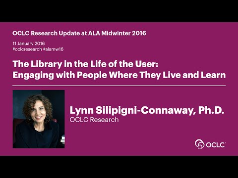 OCLC Research Update at ALA Midwinter 2016: The Library in the Life of the User
