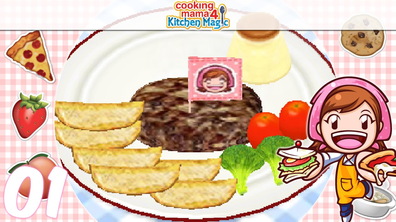Let S Play Cooking Mama 4 Kitchen Magic Ep01 Salisbury Steak