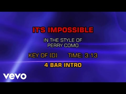Perry Como - It's Impossible (Karaoke)