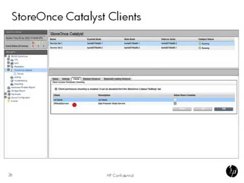 StoreOnce Catalyst User Interface