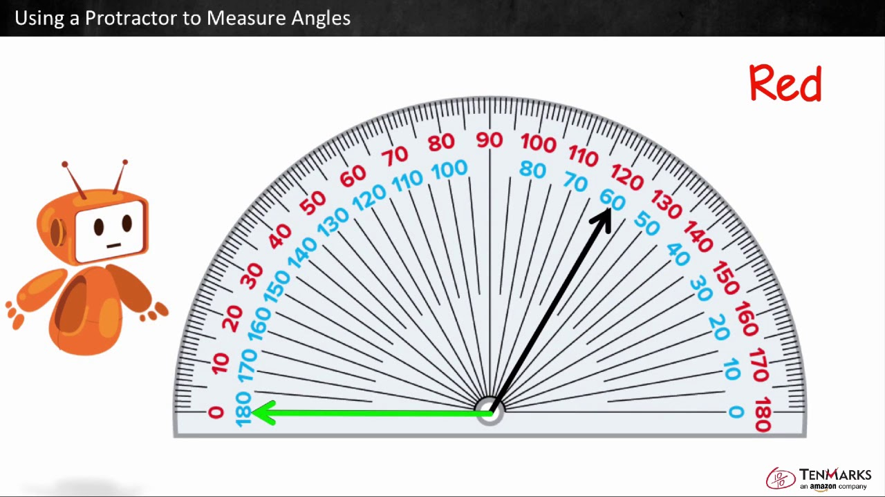 medium resolution of Using a Protractor to Measure Angles: 4.MD.6 - YouTube